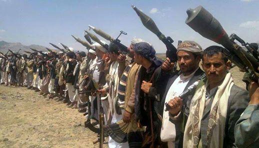من مخيم الحوثيين في حزيز على مداخل صنعاء (انترنت)