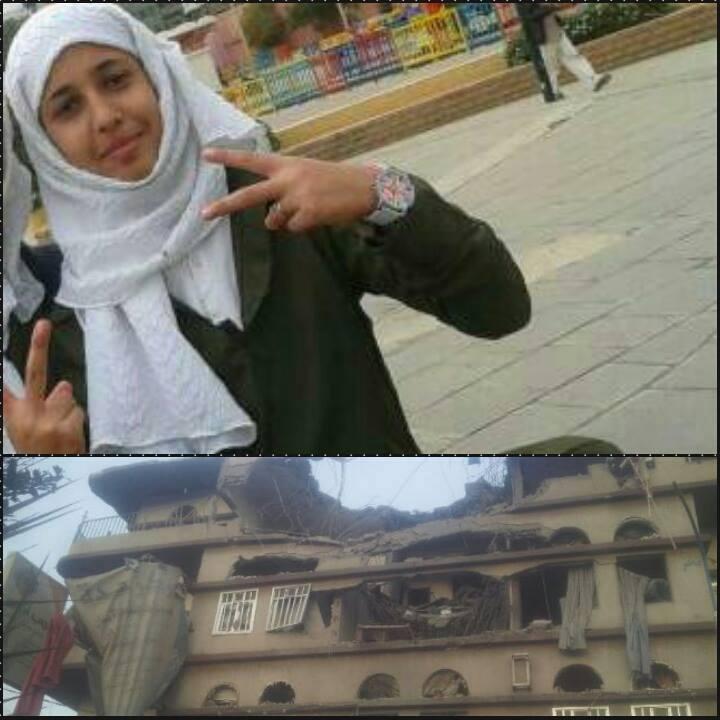 سناء البدوي طالبةٌ في الصف التاسع بمدرسة خولة للبنات كانت تستعدّ لإختبارات الأسبوع الثاني على ضوء الشموع